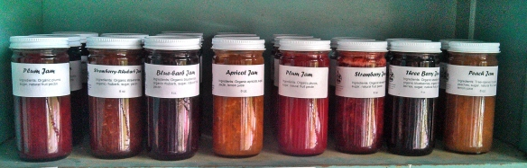 Homemade jams made from our organic fruits