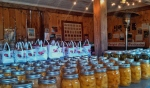Apples and preserves in the farmstand, 2013.