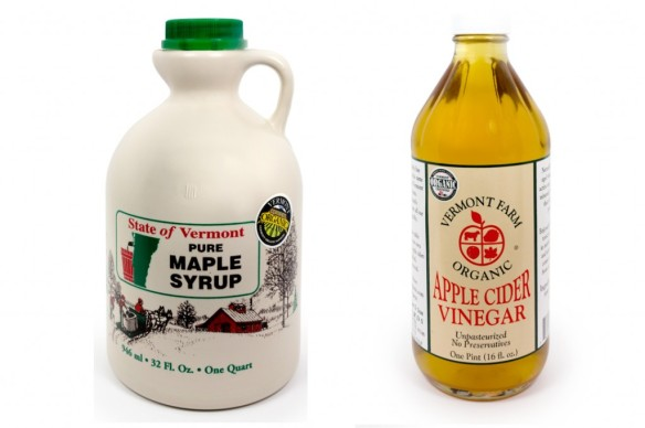 Our own Vermont maple syrup and unpasteurized apple cider vinegar